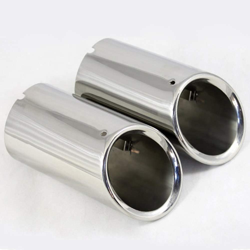set diam/ètre 7cm en acier inoxydable embout de silencieux d/échappement de voiture tuyau couvre 2pcs