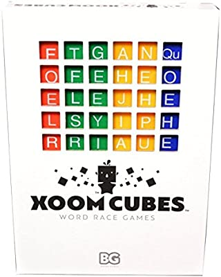 Xoom Cubes White by BAXBO Word Race Dice Game Pack A