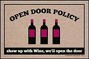 High Cotton Doormat, Open Policy Wine