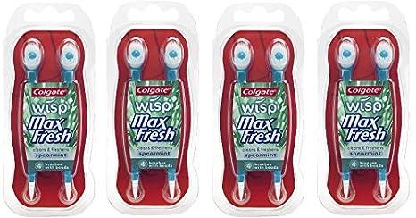 Colgate Max Fresh Wisp desechables Mini cepillos de dientes, verde: Amazon.es: Hogar