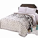 MeMoreCool Seasons Collection Super Soft Plush Raschel Throw Blanket Double Thick Warm Winter Blanket Luxury Grid Style Design Single/Double Blanket Cover 71 by 87 Inches