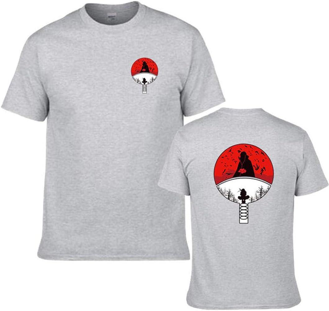 TSHIMEN Camisetas Hombre Escalada Naruto Camiseta Ninja para Hombre Camisetas Naruto Brother Camisetas con Logo Popular increíble Tops Tees Negros Ropa (1pcs) Gris Claro s: Amazon.es: Ropa y accesorios