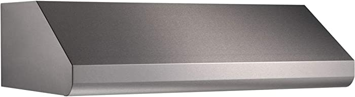 """Broan Elite E64E36SS 36"""" Under-Cabinet Canopy Range Hood with External Blower Options Variable Speed Control and Baffle Filters in Stainless Steel (Blowers Sold"""
