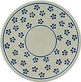 Polish Pottery Saucer 6-inch Daisy Dots