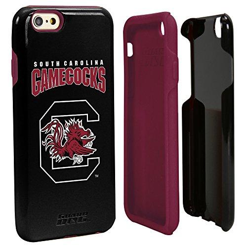 NCAA South Carolina Fighting Gamecocks Hybrid IPhone 6 Case, Black, One Size
