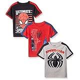 Marvel Little Boys' 3 Pack Spiderman T-Shirts, Multi, 6