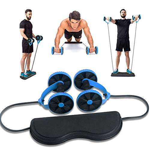 Dricar AB Wheel Roller Fitness Abdominal Equipment, Double Wheel Muscle Training Core Workout Exercise Gym Machine Multi…