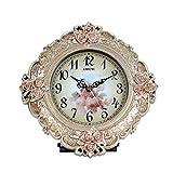 HAOFAY European Retro Desktop Clock, Antique Decorative Table Clock And Shelf Clock