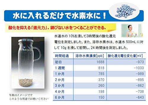 【水の力】水素還元セラミックボール 100ℊ 簡単使用マニュアル付き ※最大溶存水素濃度1.6ppm・最大酸化還元電位-1000mv どこでも還元水素水が作れます! 使用期間目安:1ヶ月~2ヶ月(500mlの水に対して水素還元セラミックボール10gの場合)