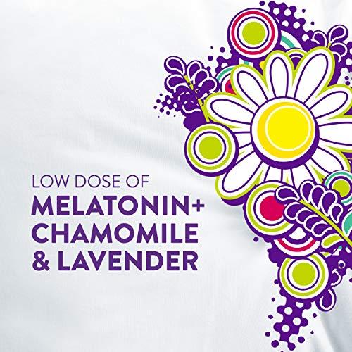 Vicks Pure Zzzs Kidz Melatonin Lavender & Chamomile Sleep Aid Gummies for Kids & Children, Natural Berry Flavor, 0.5mg per gummy, 48 Ct by Vicks (Image #3)