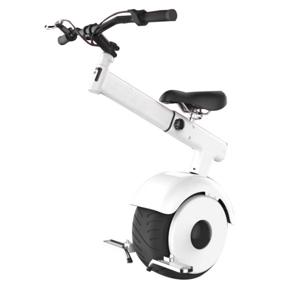 PAUL&F Elektrischer Einrad, Smart Scooter,Somatosensorischer Modus,60 V   800 W Motor,Die Schnellste Geschwindigkeit Ist 15 Km H,Unisex-Erwachsene Einrad Mit Sitz Und Lenker,420WhWeiß 420whWeiß