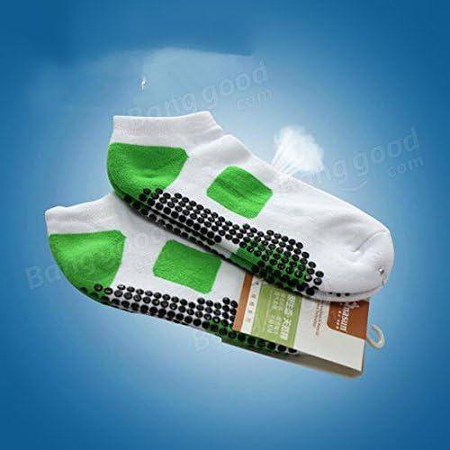 Bazaar Chaussettes points en caoutchouc anti-dérapant respirant course courtes chaussettes de sport Yoga aptitude professionnelle