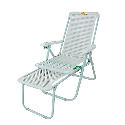 GPFDM Silla plástica Plegable, sillón reclinable Plegable de ...