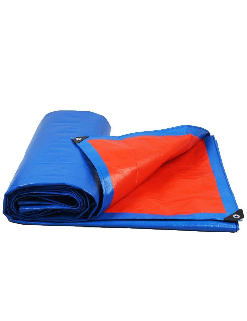 DLyng ブルー防水ターポリンカバー厚いタフテントキャンプヘビーデューティシェードタフ (Size : 5m*6m) 5m*6m  B07GYMVSMH