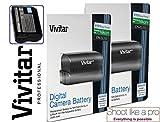 2-Pcs Hi Capacity EN-EL15 Battery For Nikon D7200 D7100 D7000 D810 D800