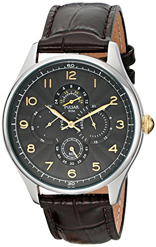 Pulsar Men s PW9011 Business Collection Analog Display Japanese Quartz Brown Watch
