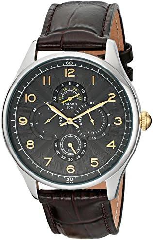 Pulsar Men s PW9011 Business Collection Analog Display Japanese Quartz Brown Watch