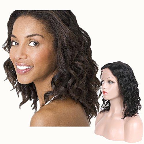 Lace Front Wigs Human Hair Bob Natural Curly Perfume Lily Brazilian Virgin Human Hair Glueless Short Bob Human Hair Wigs Wavy For Black Women Short Wavy Lace Wigs Natural Color On Sale (12