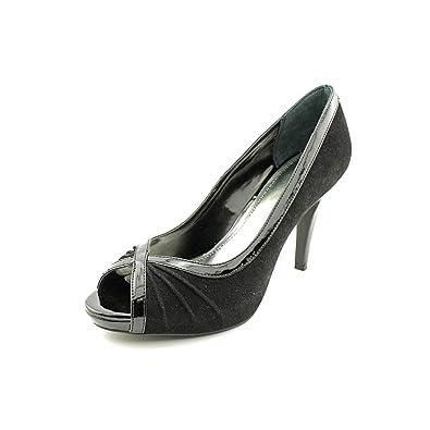 Style Co. Womens Spicey Peep Toe Platform Pumps Black Size 8.5