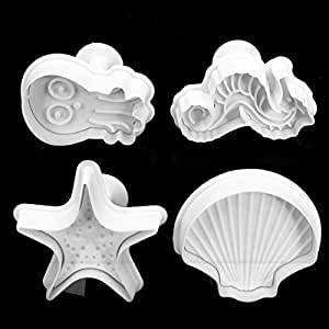 Amazon.com: 4PCS Sea Shells Cake Baking Mold Plunger