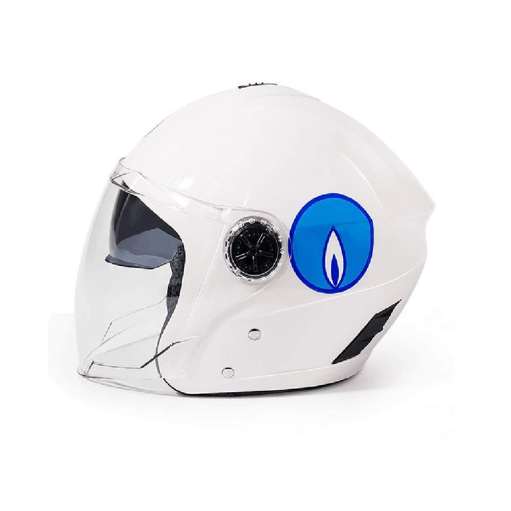 GZH Coche El/éctrico para Montar Casco Cuatro Estaciones A Prueba De Viento Anti-ca/ída Casco Integral Equipo De Conductor De Motocicleta Todo Terreno