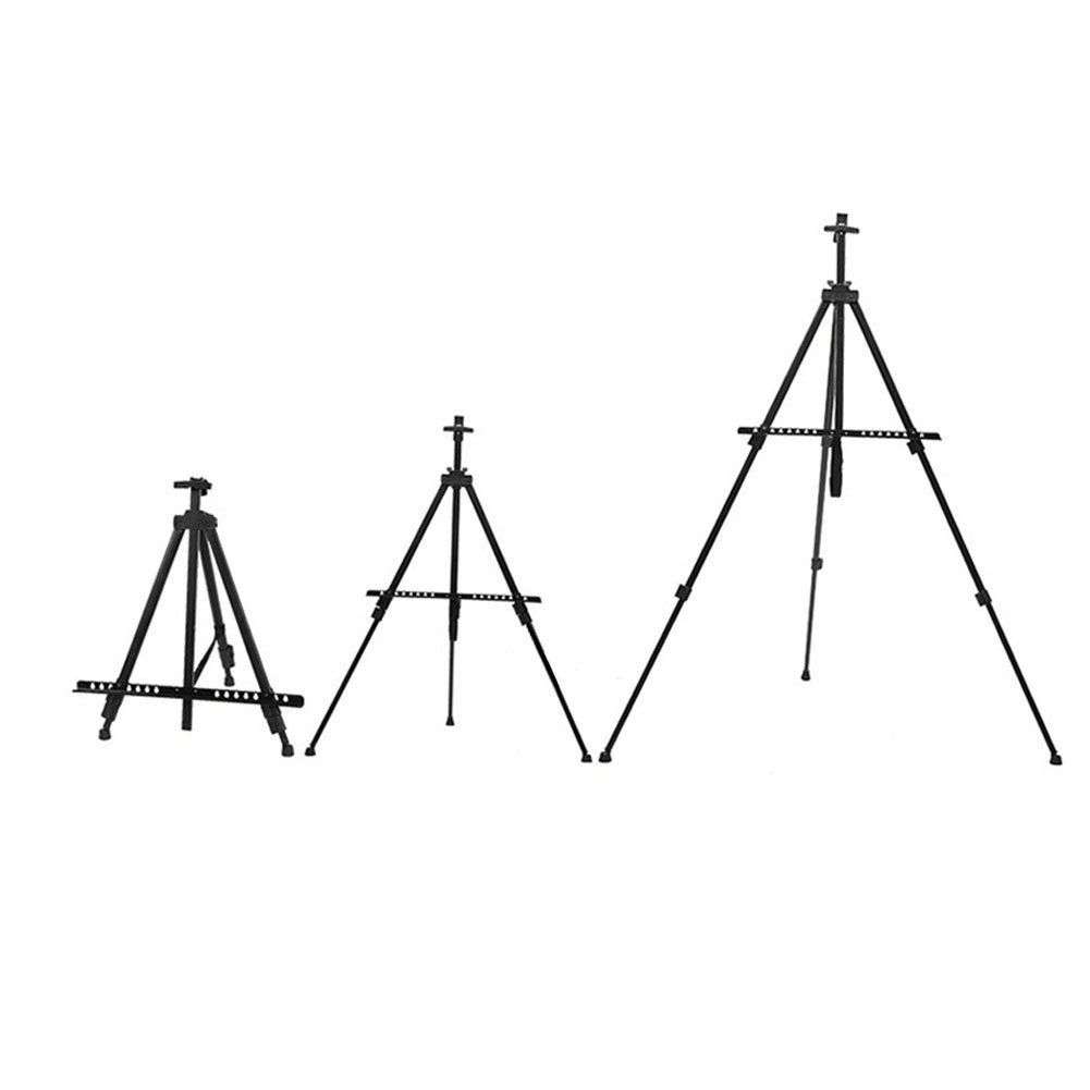 Artist Easel Stand - 66'' Aluminum Metal Art Easel 21'' to 66'' Adjustable Height with Black Carry Bag by Apoulin (Image #3)