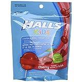 Halls Kids Cherry Pops Bag, 10 Count