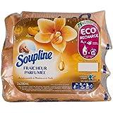 Soupline Dose Parfumée Vanille/Mandarine 3 x 200 ml- Assouplissant/ Adoucissant, éco-recharges à diluer, en complément de votre lessive