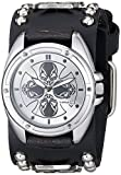 Nemesis Men's 909MICS Skull Compass Series Analog Display Japanese Quartz Black Watch