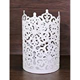 """Hosley's Flower 7"""" High Cut Candle Holder- White. LED/Votive/Tealight Holder/Lantern. Ideal Gift for Wedding, Party, Use with Jar Candles, Tea Lights, Votive Candle Gardens, Aromatherapy, Spa O5"""