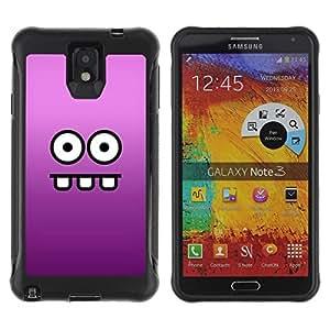 Paccase / Suave TPU GEL Caso Carcasa de Protección Funda para - Eyes Face Cartoon Funny Purple - Samsung Note 3