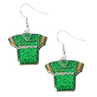 NFL womens NFL Sports Team Jersey Dangle Glitter Earring Set