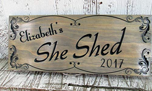 Ballkleid Custom She Shed Sign Personalized Girl Cave Private Space Getaway Sign Mom Wife Sister Girlfriend Gift