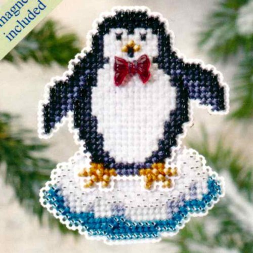 Proud Penguin - Fridge Magnet - Cross Stitch Kit