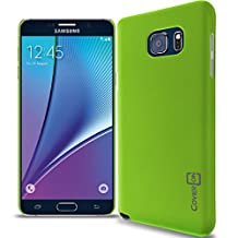 Galaxy Note 5 Case, CoverON® [Slender Fit Series] Slim Matte Hard Polycarbonate Back Cover Phone Case For Samsung Galaxy Note 5 - Lime Green