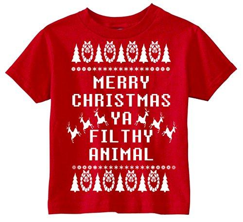 Animal Kingdom Christmas Shirt.Custom Kingdom Baby Boys Merry Christmas Ya Filthy Animal T Shirt