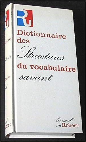 Livre gratuits Dictionnaire des structures du vocabulaire savant pdf