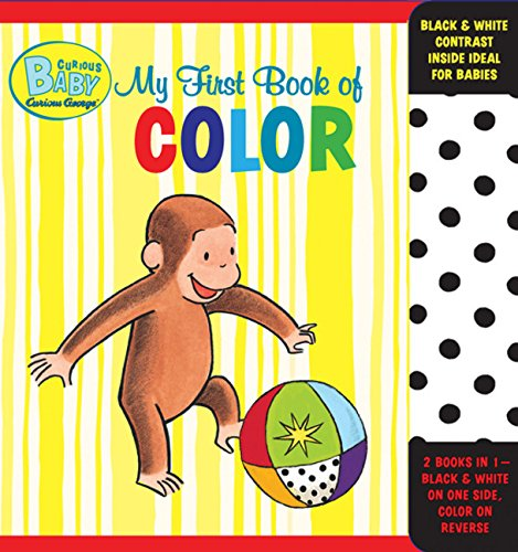 Curious Baby My First Book of Color (Curious George Accordion-Fold Board Book) (Curious Baby Curious George)