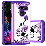 LG G8 ThinQ Case,LG G8s ThinQ Case,LG G8 Case, Yuanming Hybrid Dual Layer TPU & Hard Back Cover Bumper Protective Shock-Absorption & Skid-Proof Anti-Scratch Hybrid Case for LG G8 ThinQ (Purple)