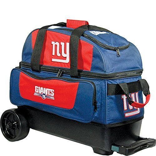 KR Strikeforce York Giants Double Roller Bowling Bag, - Bag Giants Ny Bowling