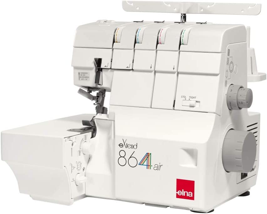 ELNA Overlock 864 Air – con Aire Sistema de enhebrado fácil de ...