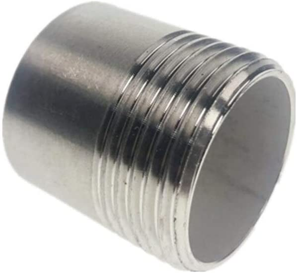Thread Specification : DN8 Sturdy 10pcs BSP Male Equal Straight Welding Joint Pipe Connection 304 Stainless Steel Connector Fittings