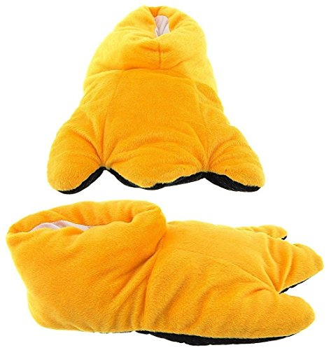 Rooster Feet Costume (Wishpets Children S Yellow Duck Slippers)