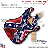 Confederate Flag WraptorSkinz Skin fits Rock Band Stratocaster Guitar for Nintendo Wii, XBOX 360, PS2 and PS3 (GUITAR NOT INCLUDED), Best Gadgets