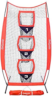 GoSports 8' x 4' Football Training Vertical Target Net, Improve QB Throwing Accuracy – Includes Foldable Bow F
