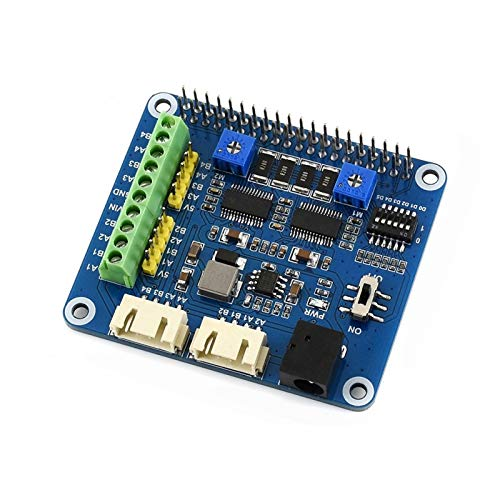 Waveshare Raspberry Pi Stepper Motor HAT Onboard Dual DRV8825 Motor Controller Built-in Microstepping Indexer Drives Two Stepper Motors Up to 1/32 Microstepping