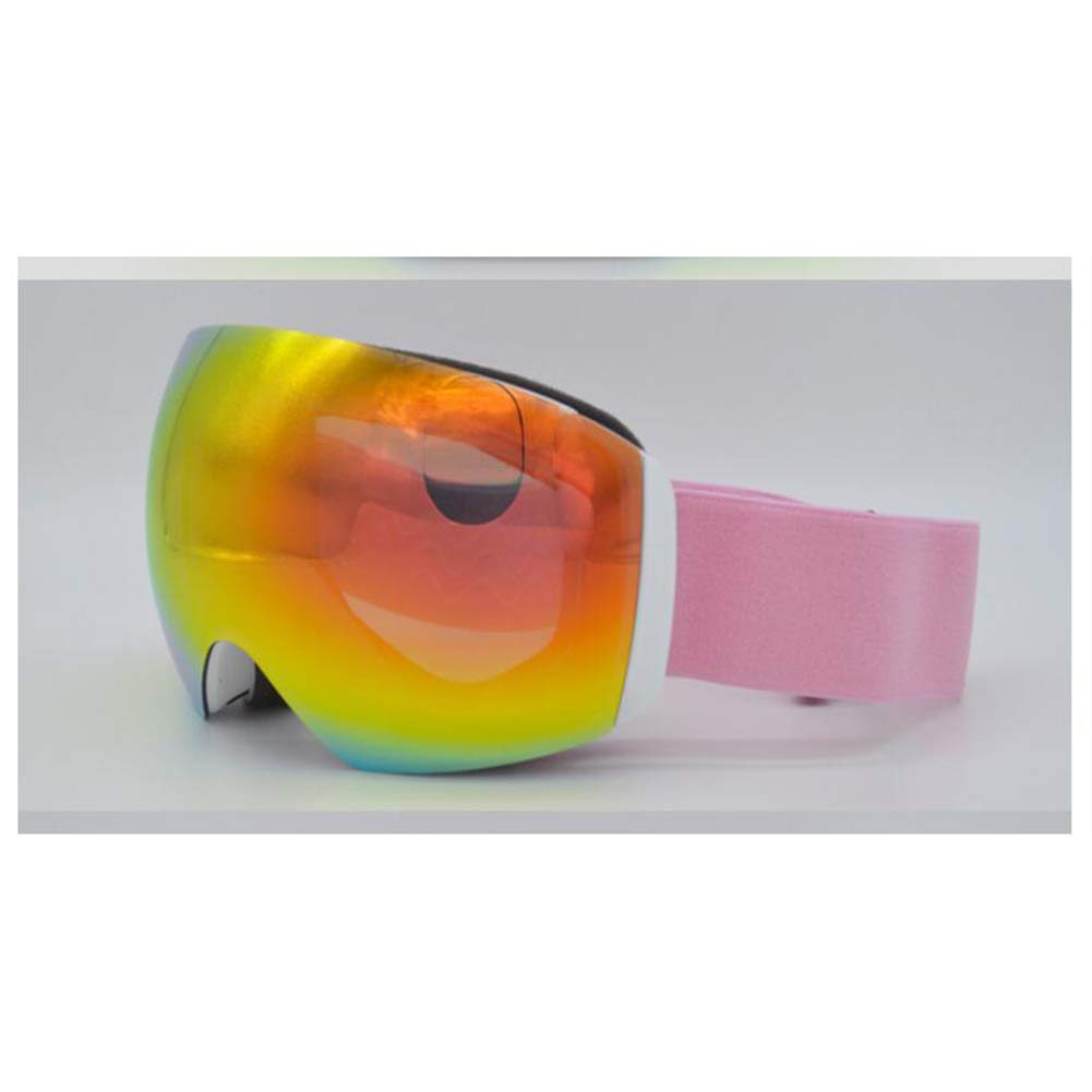 He-yanjing Skating Goggles ,Snowboarding Goggle ,Anti-Fog Jet Snow Skiing Skis Goggles ,Over Glasses Ski/Snowboard Goggles for Men, Women & Youth (Color : Orange) by He-yanjing
