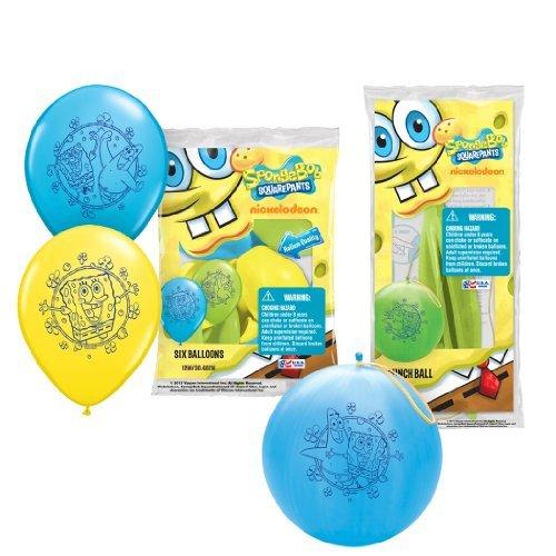 Pioneer National Latex Sponge Bob Square Pants Party Pack (6 Balloons/4 Punch Balls) by SpongeBob SquarePants for $<!--$46.98-->