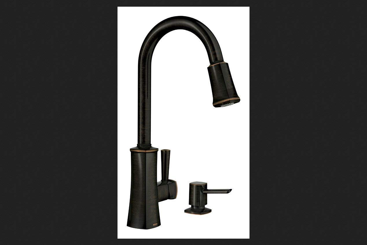 Moen 87038BRB One-Handle High Arc Pulldown Kitchen Faucet ...
