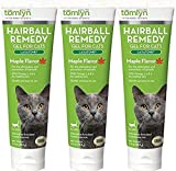 (3 Pack) Tomlyn Hairball Remedy Gel for Cats, Maple Flavored, 2.5 oz